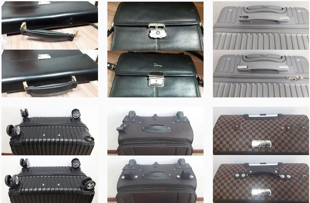 ремонт и замена ножки чемодана
