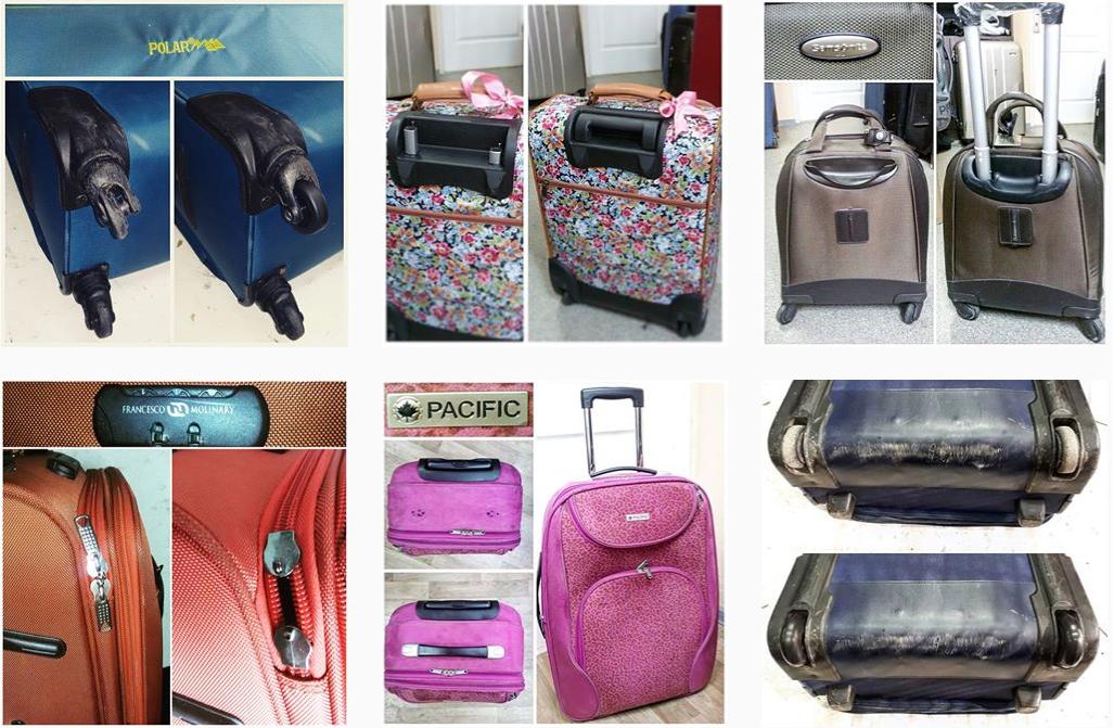 фото до и после ремонта ножки чемодана