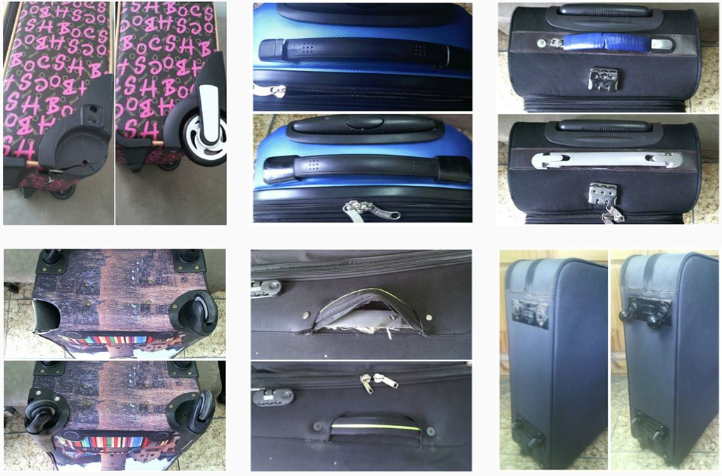 фото до и после ремонта колес чемоданов