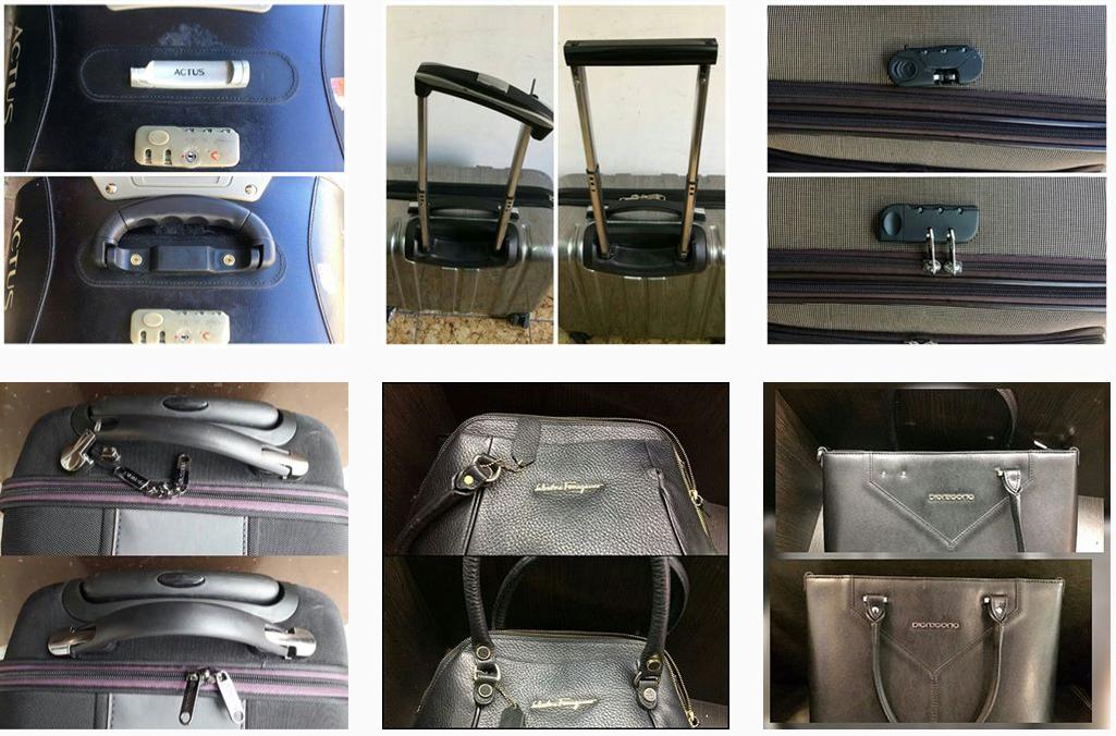фото до и после ремонта бегунка чемодана